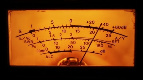 Dial Gauge Of The Transceiver