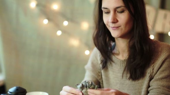 Thumbnail for Young Woman Wrapping Christmas Gifts At Home