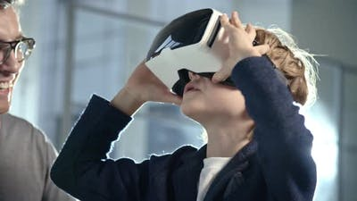Boy with VR Glasses