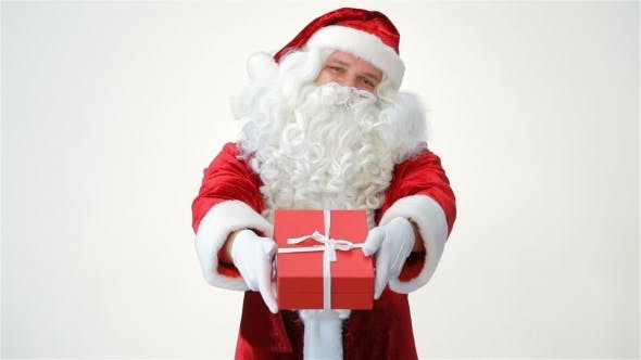 Thumbnail for Santa Claus Holding And Offering a Gift