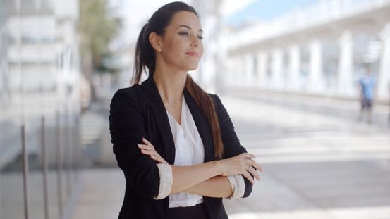 Thumbnail for Confident Businesswoman Standing Waiting