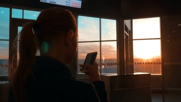 Thumbnail for Woman Having a Phone Talk At The Airport