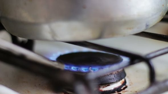 Thumbnail for Ignition Of The Gas In The Burner On The Stove