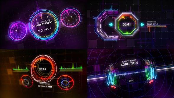 Visualizador de música Techno