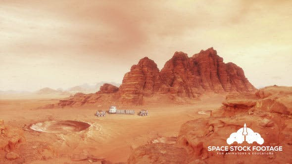 Thumbnail for Martian Landscape One - With Hab and Rovers