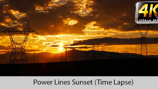 Thumbnail for High-voltage Transmission Line Sunset
