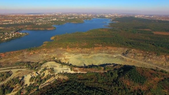 Thumbnail for AERIAL VIEW. Simferopol Crushed Stone Quarry
