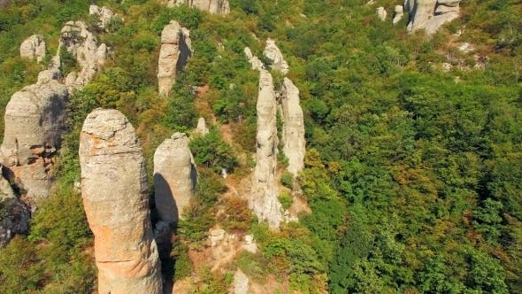 Thumbnail for AERIAL VIEW. Boulders In Famous Valley Of Ghosts