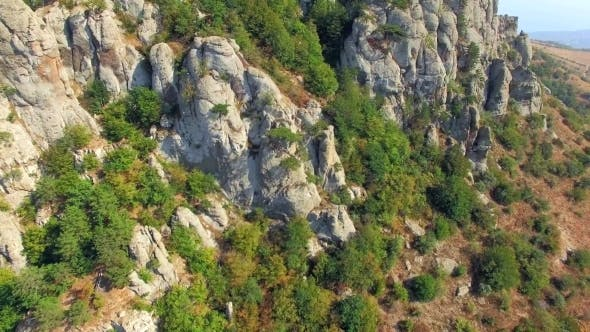 Thumbnail for Rocky Formations On Slope Of Mountain