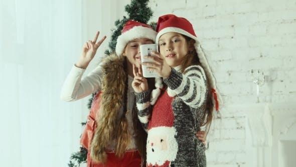 Thumbnail for Kinder Weihnachten Selfie