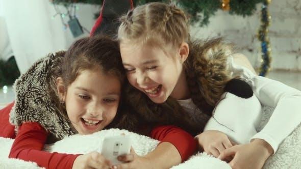 Thumbnail for Christmas Selfie Of Two Girls