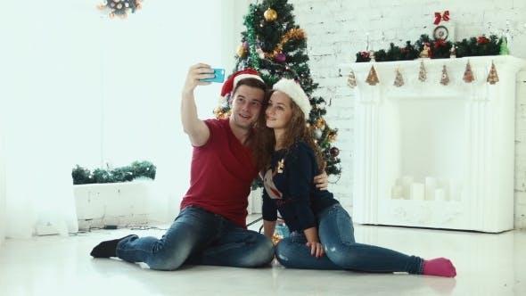 Thumbnail for Couple Makes Christmas Selfie