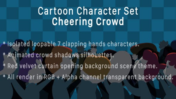 Thumbnail for Concert Cheering Crowd Character Pack