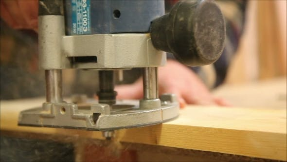 Thumbnail for Working Drills Wooden Panel Drilling Machine