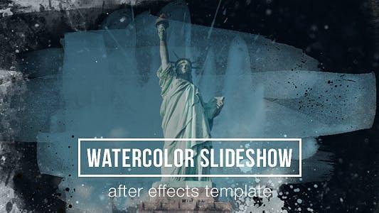 Watercolor Parallax Slideshow