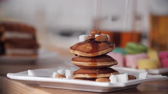 Thumbnail for Delicious Homemade Pancakes with Chocolate Syrup