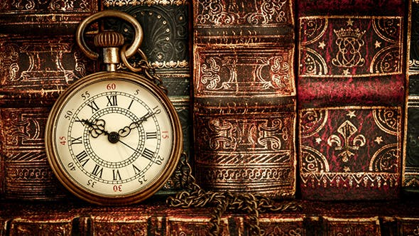 Thumbnail for Vintage Antique Pocket Watch Against Old Books