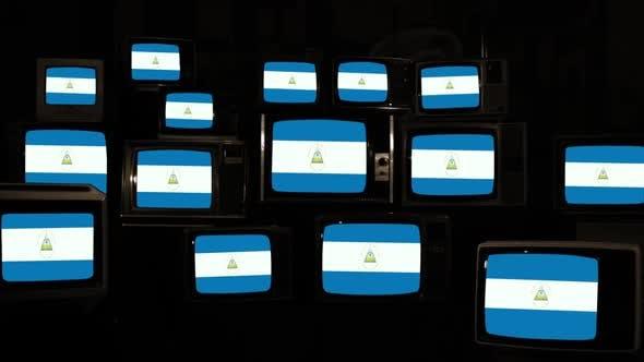 Thumbnail for Flag of Nicaragua and Retro TVs.