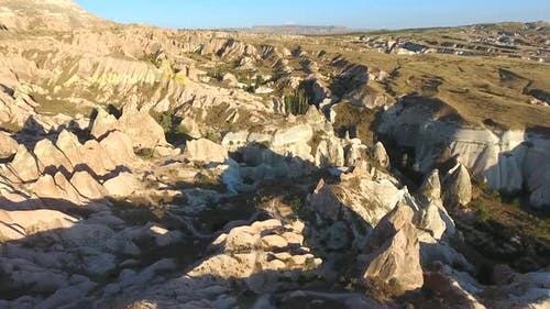 Hoodoos, Fairy Chimneys and Sedimentary Volcanic Rock Formations in Eroded Stone Valley