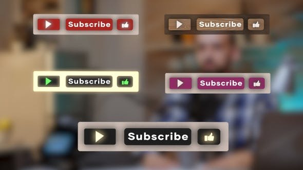 3D Youtube Subscribe Button