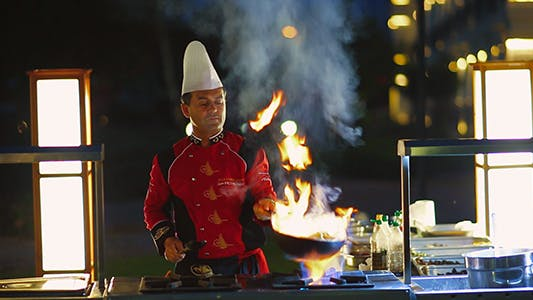 Cover Image for Chef Preparing Food