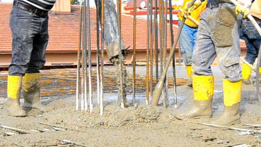 Thumbnail for Site Workers Pouring A Concrete Slab