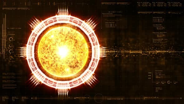 Thumbnail for Futuristic Holographic Nuclear Fusion Machine Simulation HUD