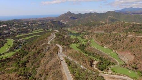 Atemberaubendes Panorama von der fliegenden Drohne