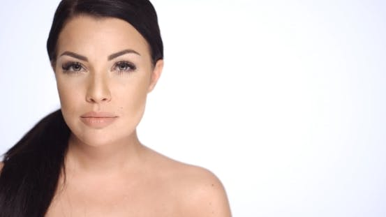 Thumbnail for Sexy Brunette Girl With Bare Shoulders