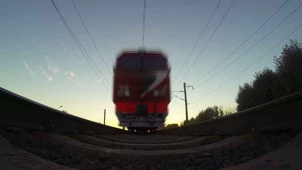 Thumbnail for Train View From Below Sunset