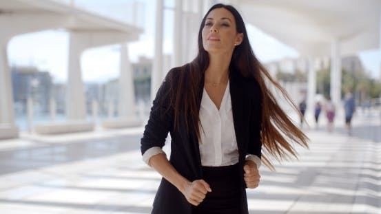 Thumbnail for Beautiful Business Woman Standing And Looking