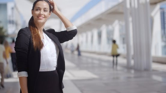 Thumbnail for Smiling Happy Confident Young Businesswoman