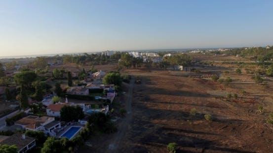 Flug über Land In Andalusien