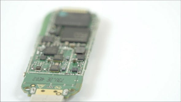 Thumbnail for USB Stick Small Chipset in a Turn Around View
