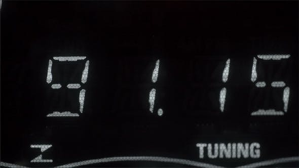 Thumbnail for A White Number as Tuner on a Radio