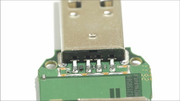 Thumbnail for The Tip of the USB Stick Showing the USB Port