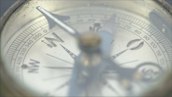 Thumbnail for An Old Small Round Compass on a Table