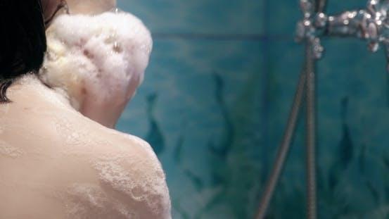Thumbnail for Beautiful Young Woman Washing Her Body