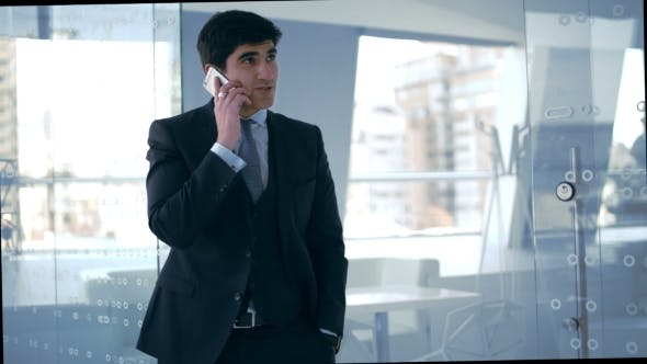 Thumbnail for Young Businessman Talking On The Phone
