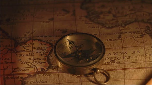 Compass on a Map