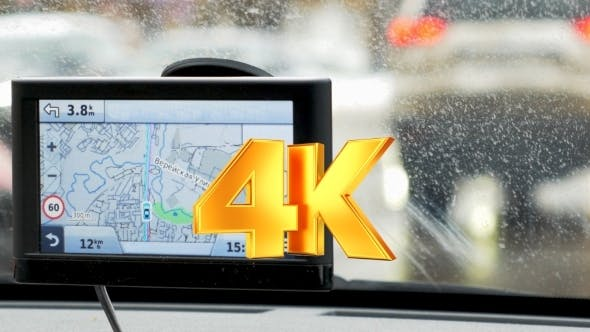 Thumbnail for Driver Following The Route On GPS Device