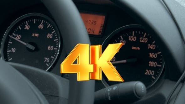 Thumbnail for Car Dashboard With Low Speed Shown