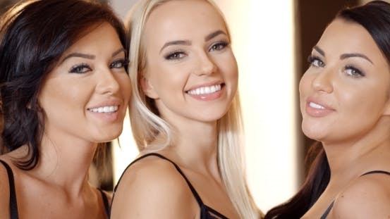 Thumbnail for Three Happy Smiling Sexy Girl Friends