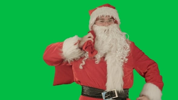 Thumbnail for Real Santa Claus Carrying Presents In His Sack On