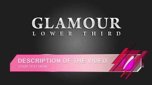 Thumbnail for Glamour Lower Thirds
