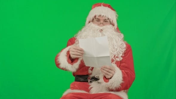 Thumbnail for Santa With Christmas Letter Or Wish List