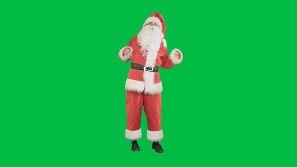 Thumbnail for Santa Claus Dancing On a Green Screen Chrome Key