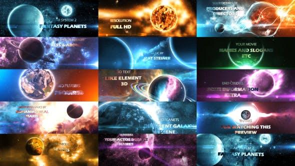 Thumbnail for Système solaire 2 (Planètes fantastiques) 8K