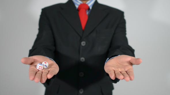Thumbnail for Businessman Tricky with Dice, Right Decision