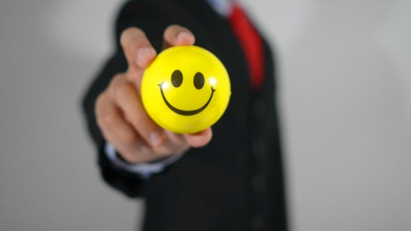 Thumbnail for Happy Businessman, Smiley